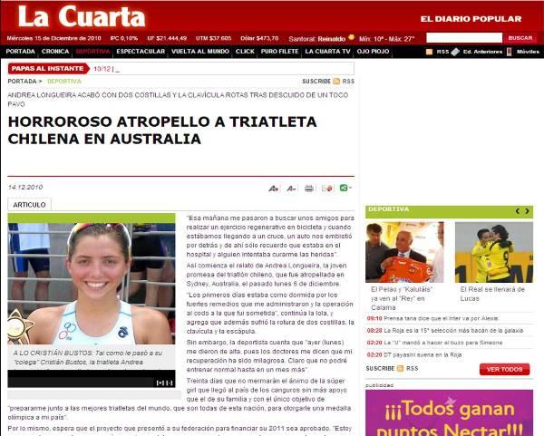 Andrea en los diarios | www.trichile.cl